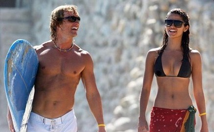 Matthew Mcconaughey no shirt at beach