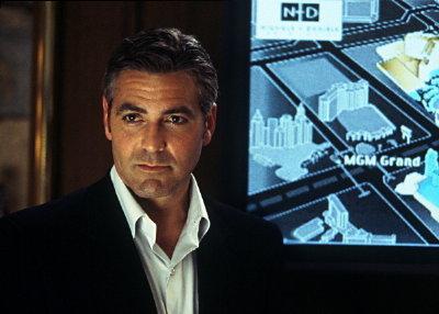 George Clooney in suit in ocean's 11
