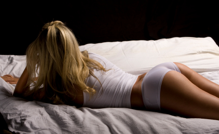 Remarkable girls in panties laying on bed opinion