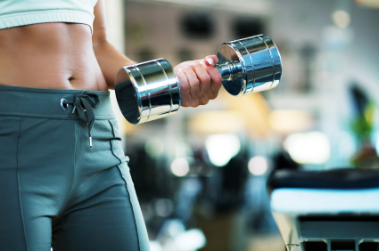 Woman Lifting Dumbell