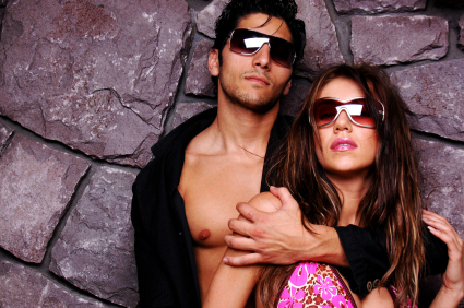 two models in stunner shades