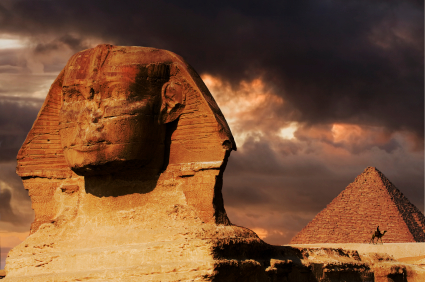 pyramids and sphinx in cairo egypt