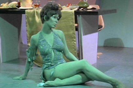 green lady from star trek